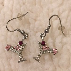 Jewelry - Small silver Tone Cosmopolitan Rhinestone Earrings